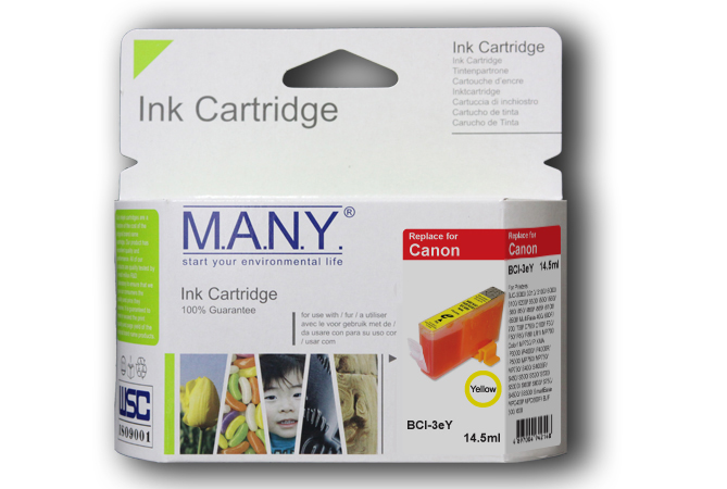Bci3eY  Yellow Compatible Ink