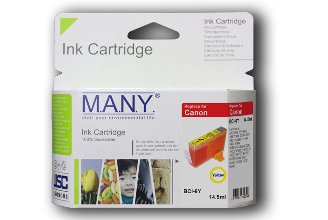 Bci6eY  Yellow Compatible Ink