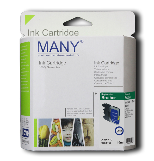LC38C Compatible Ink Cartridge Cyan